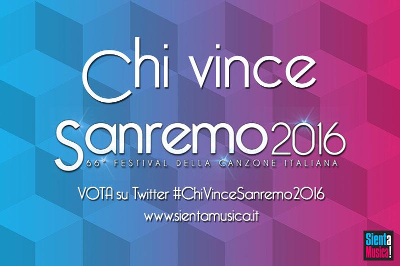 Chi vince Sanremo 2016