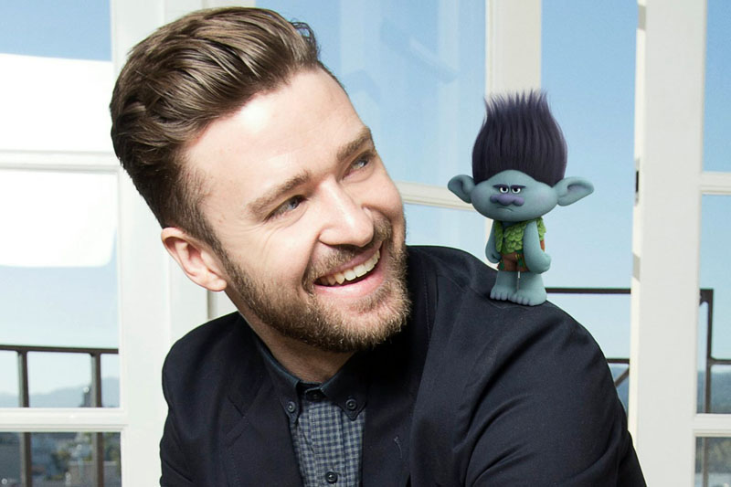 """Justin Timberlake: Online il video di """"Can't Stop The Feeling!""""  (Trolls)"""