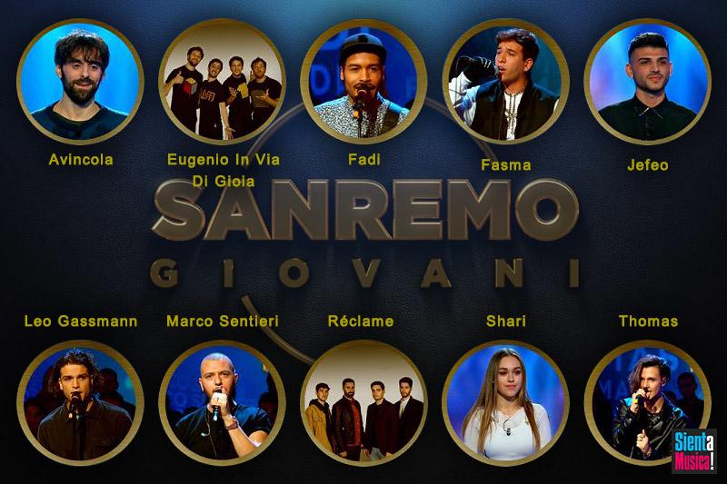 I 10 Finalisti di Sanremo Giovani 2019