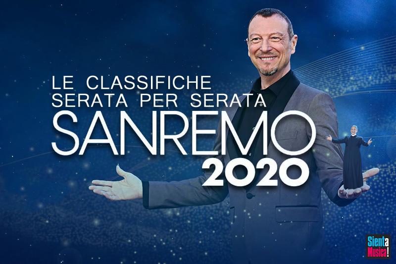 Sanremo 2020: tutte le classifiche serata per serata