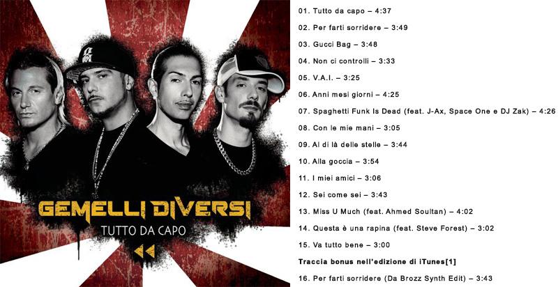 Tutto Da Capo - Gemelli Diversi (Cover)