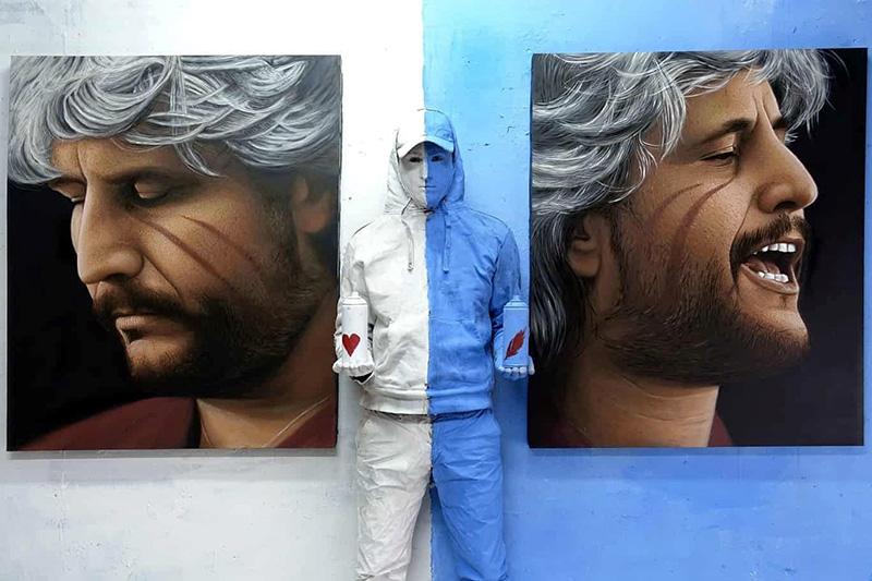 Jorit: un grande murale per Pino Daniele