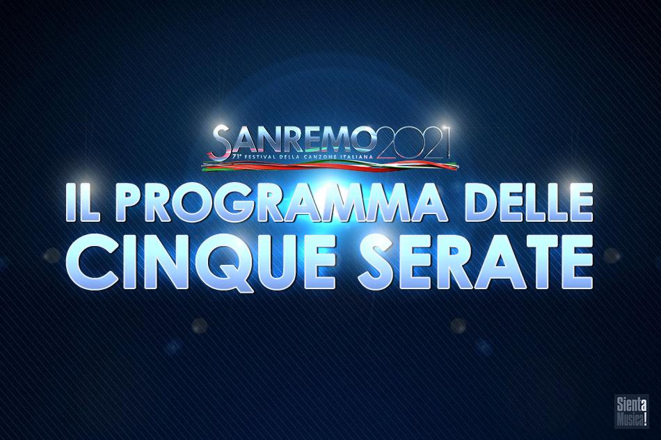 Sanremo 2021: il programma delle cinque serate