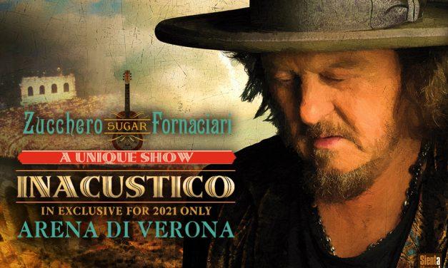 """Zucchero Fornaciari con """"INACUSTICO 2021"""" all'Arena di Verona"""